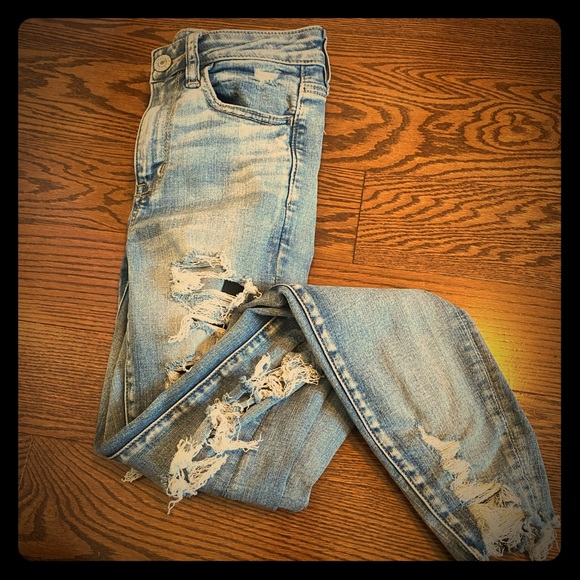 American Eagle Outfitters Denim - ripped skinny jeans from American Eagle